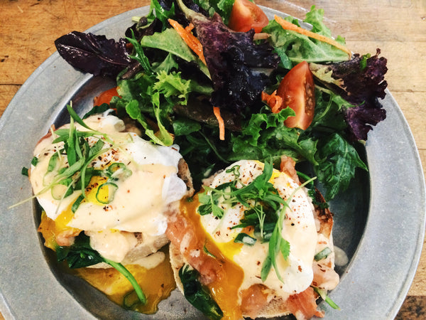 Lox Benny special at Groundwork Rose Ave. in Venice
