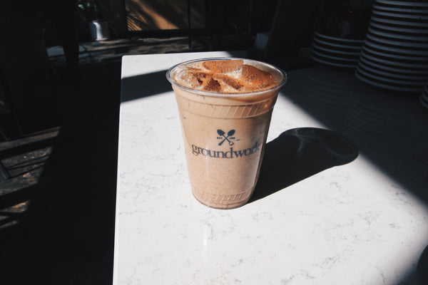 Groundwork Coffee's all-new all-natural iced chai latte.