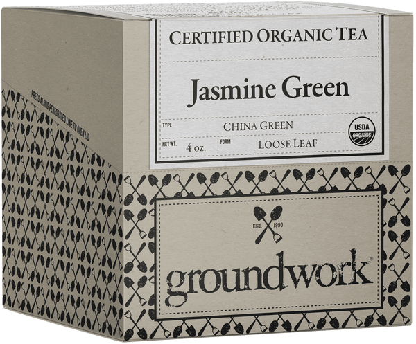 Jasmine Green Certified Organic Loose Leaf Green Tea