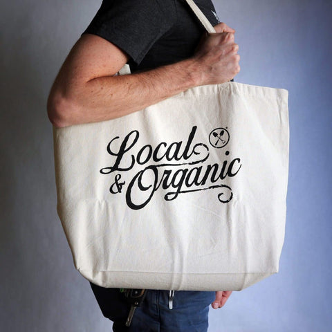 Groundwork Coffee Local and Organic Grocery Tote bag