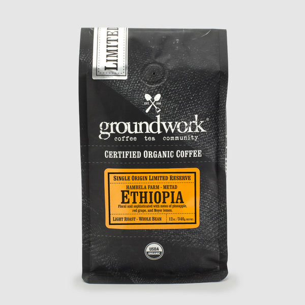 Groundwork Coffee Co.'s Ethiopia Hambela Farm - Metad Limited Reserve Single Origin Organic Coffee