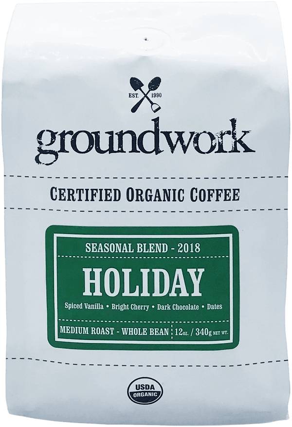 2018 Holiday Blend - Organic Medium Roast Coffee Blend
