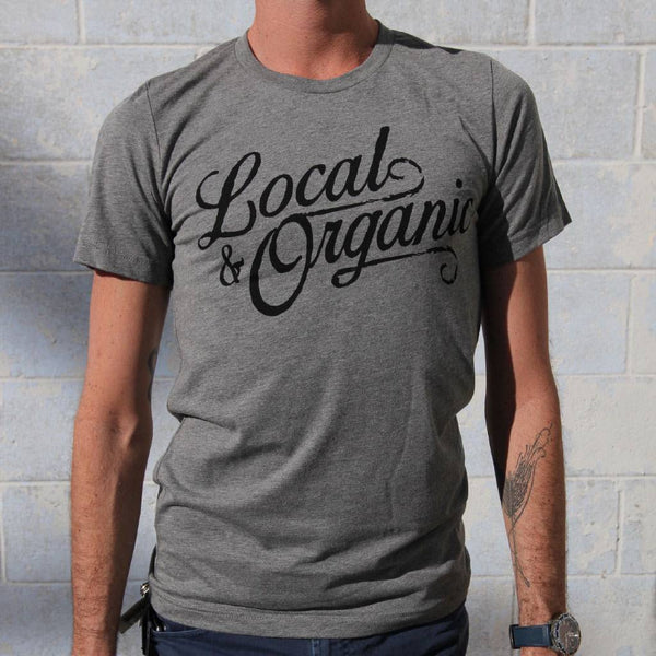 Groundwork Coffee Local & Organic T-Shirtin Grey