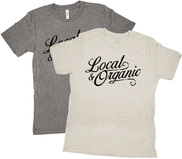 Local and Organic Tee in Cream and Grey