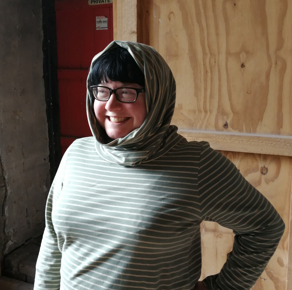 100 Acts of Sewing July '19 - adding a cowl/hood to Shirt No 2