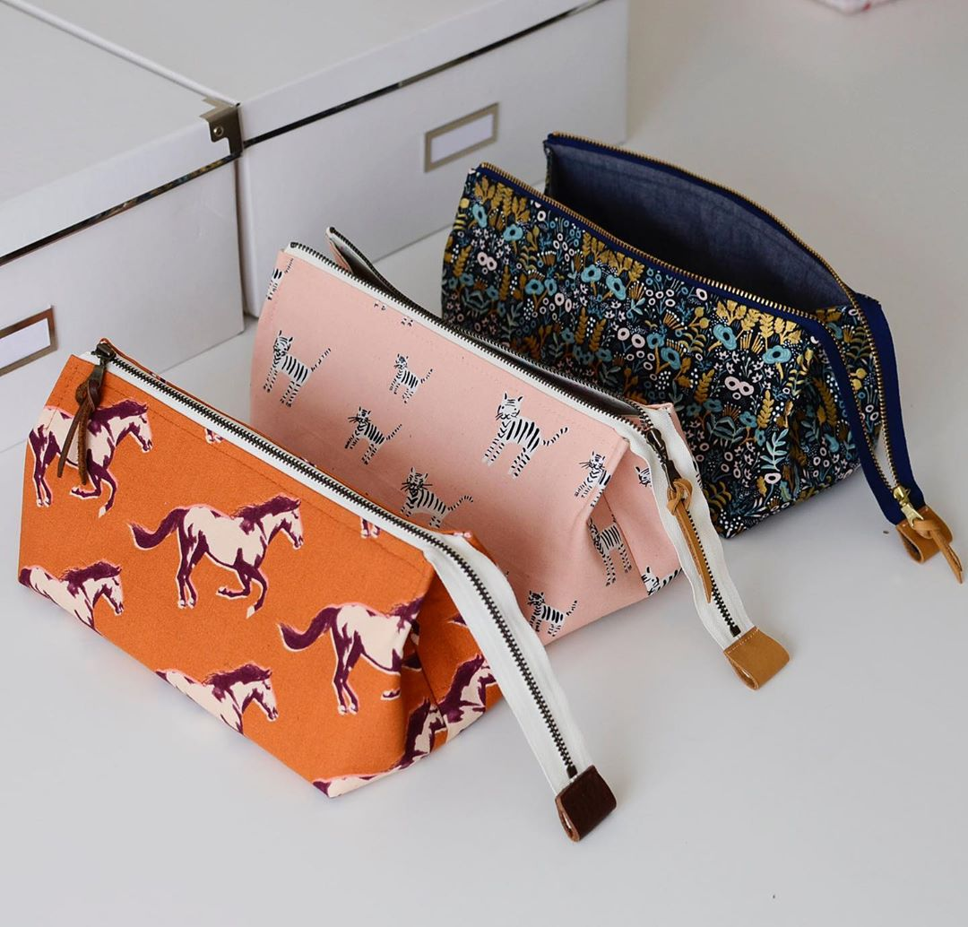 Aneela Hoey Pop Open Pouch Printed Pattern