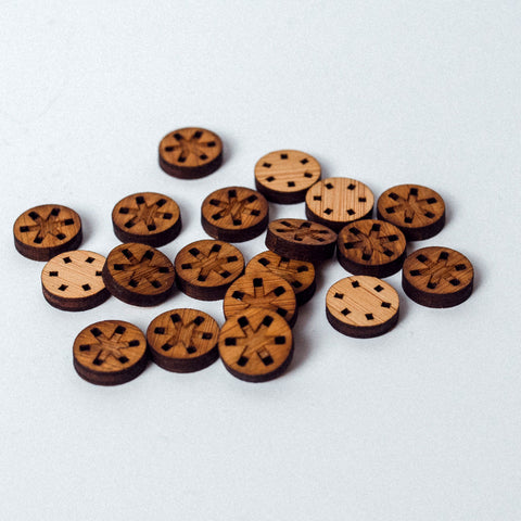 Arrow Mountain Bamboo Button - Asterisk 12 mm
