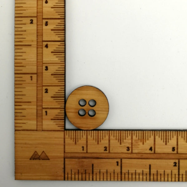 Arrow Mountain Bamboo Button - Knitters 20mm