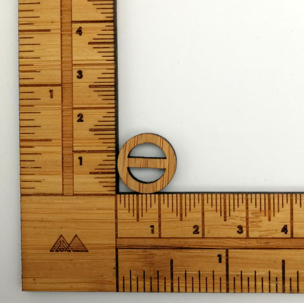 Arrow Mountain Bamboo Button - Minimalist 13 mm