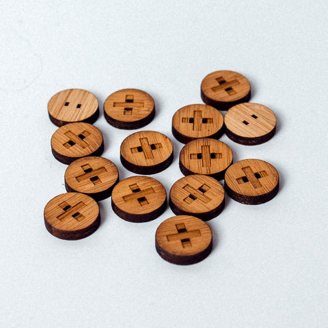Arrow Mountain Bamboo Button - Positive 12mm