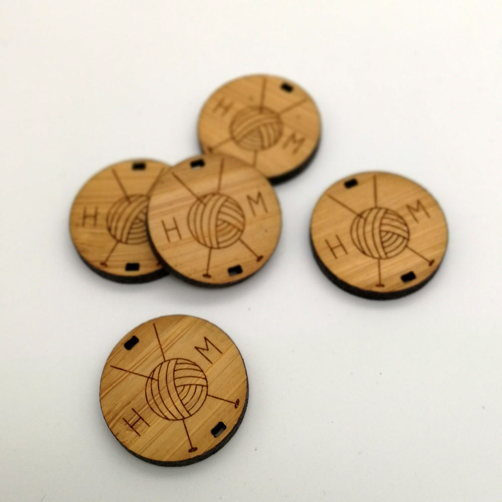 Arrow Mountain Bamboo Round Tag - Knitting