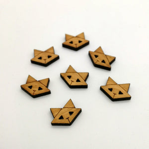 Arrow Mountain Bamboo Button - Cat 12mm