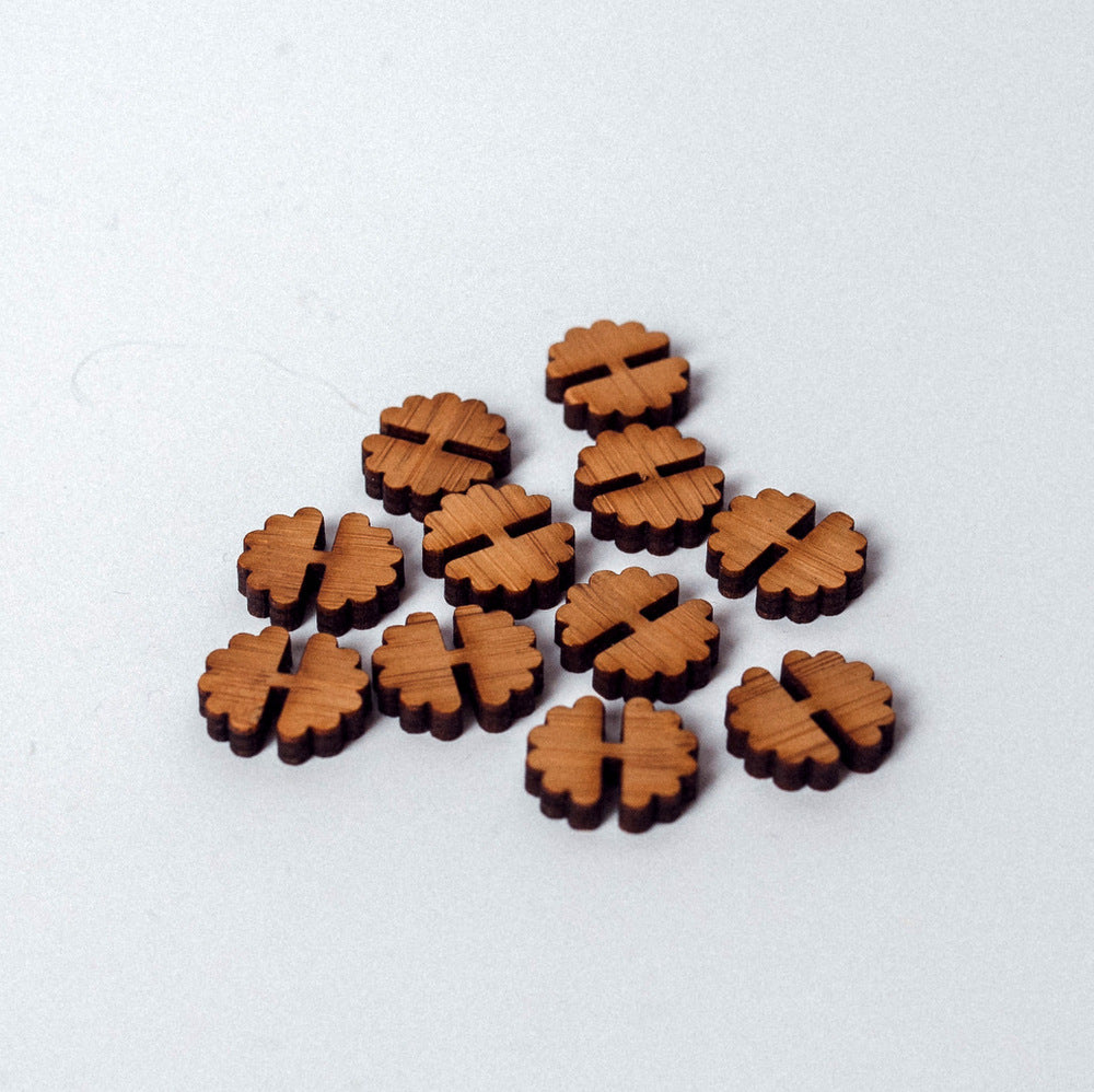 Arrow Mountain Bamboo Button - Flower 12 mm x 14 mm
