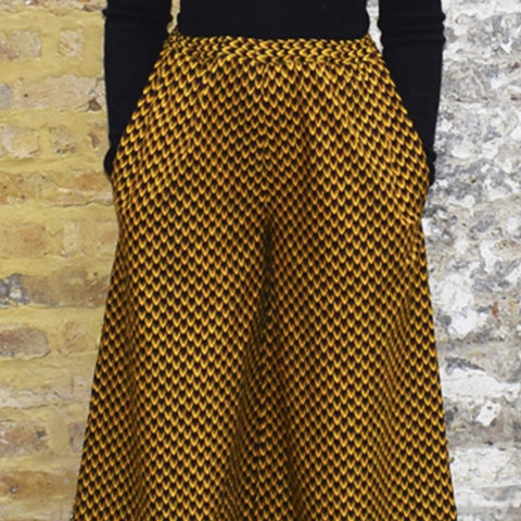 Dovetailed London Sewing Patterns - Claudette Wide Leg Trousers With Pockets