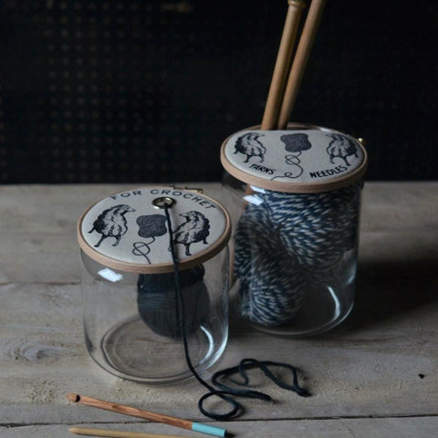 Crochet and Knitting Storage Jars