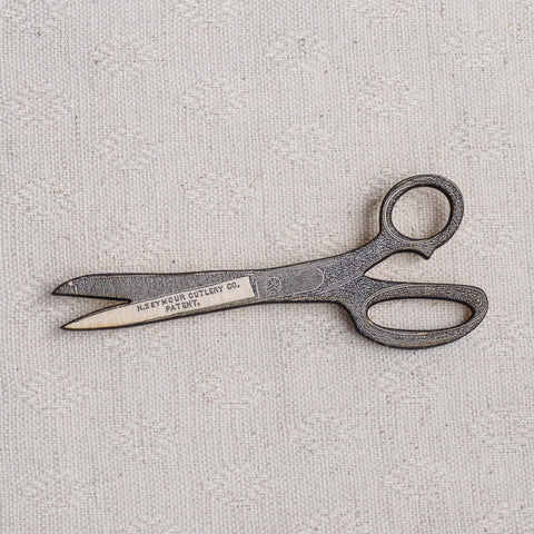 Wooden Scissors Brooch