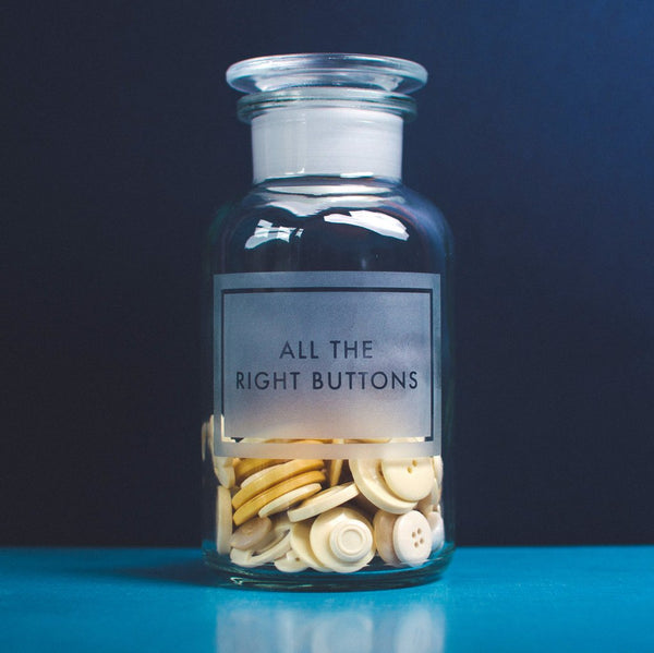 Vinegar & Brown Paper - All the Right Buttons Jar