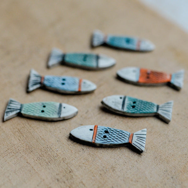 Shirley Vauvelle Handmade Buttons  - Fish