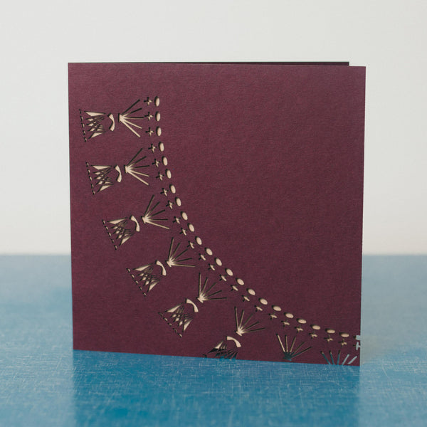 Laser cut greetings cards - Crochet