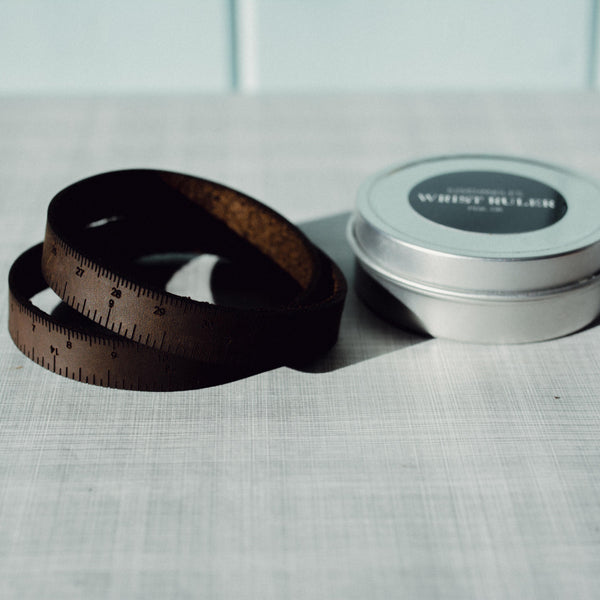 Leather Wrist Ruler - dark brown