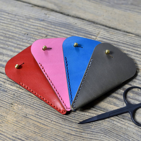 Leather Scissor Case Wide Bow