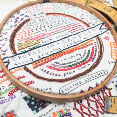 Dropcloth Sampler - Drawing Stitches