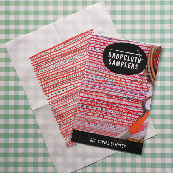 Dropcloth Sampler - Red Stripes