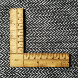 Arrow Mountain Right Angle Hem Ruler/Sewing Gauge