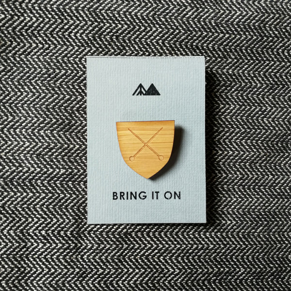 Arrow Mountain Maker Badge - Shield
