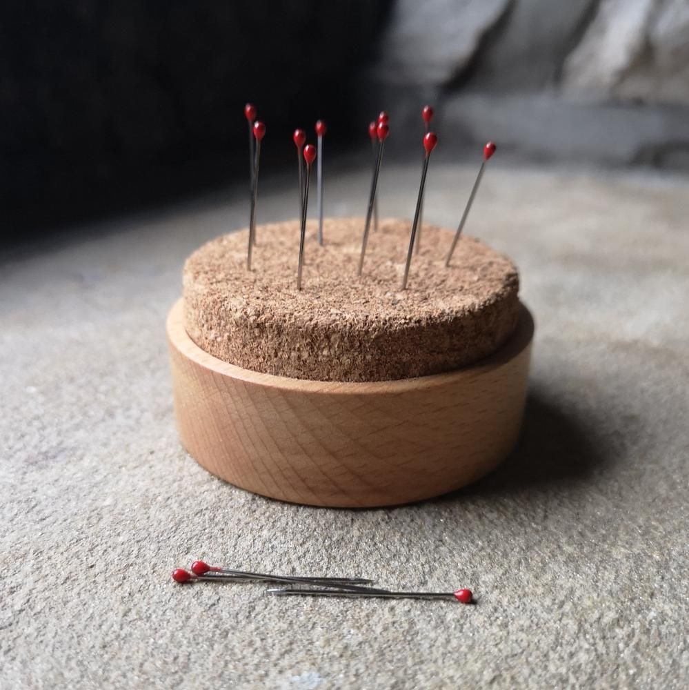 Wood and Cork Pincushion by Serradura