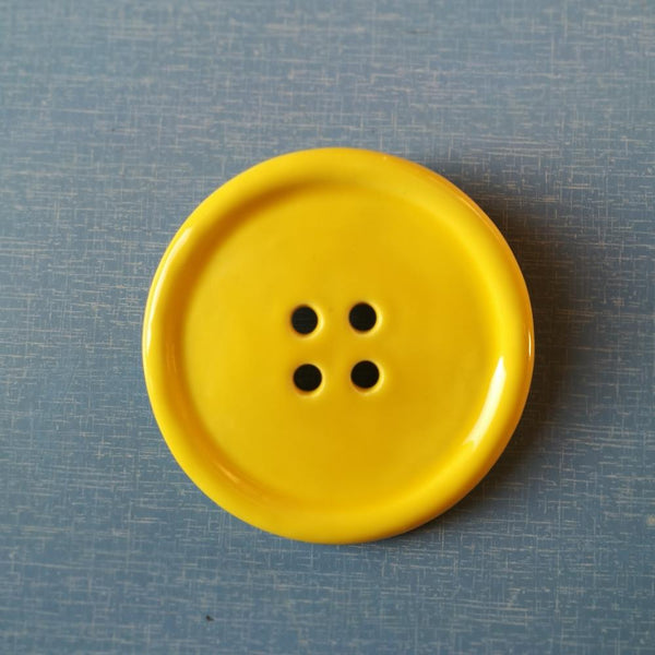 Giant Ceramic Button Brooch