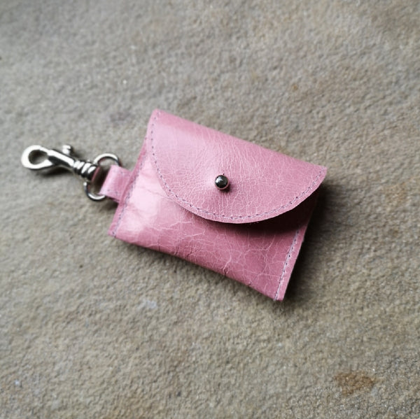 Tiny Leather Stud Pouches