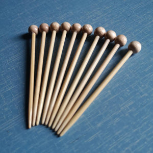 Bamboo Knitting Pins - pack of 10