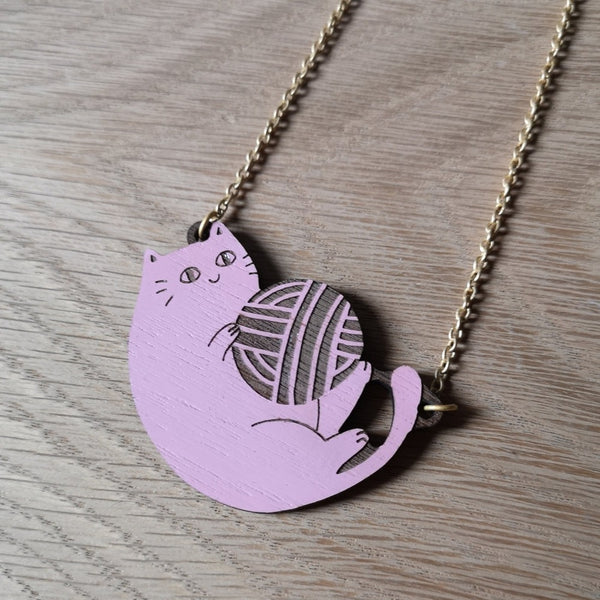 Materia Rica Playful Cat Necklace