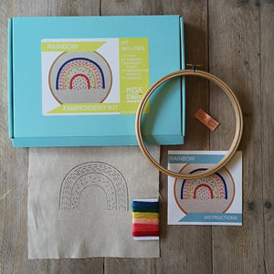 Miesje Chafer Embroidery Kit - linear rainbow