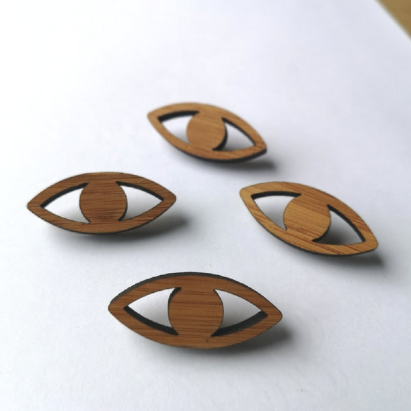 Arrow Mountain Bamboo Button - Large Eye