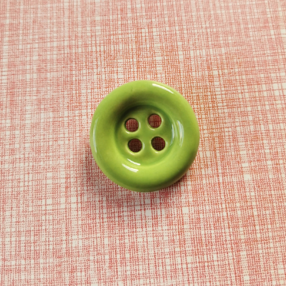 Baby Ceramic Button Brooch