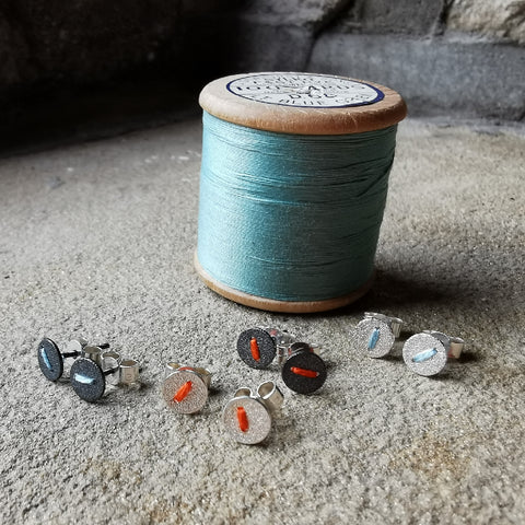 Sewn Up Earrings - Tiny Stitch