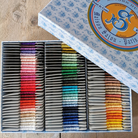 Sajou Retors du Nord Embroidery Thread - complete collection of 96 colours in a box