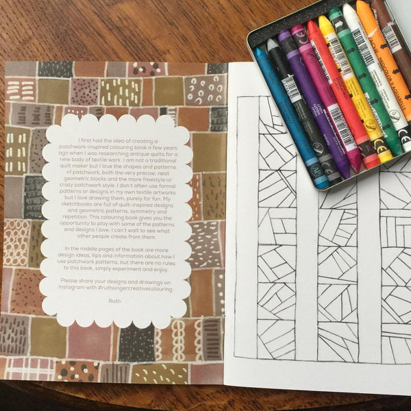 Ruth Singer Patchwork Patterns Creative Colouring Book