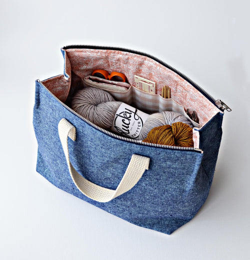 Aneela Hoey Kit Supply Tote Bag Printed Pattern