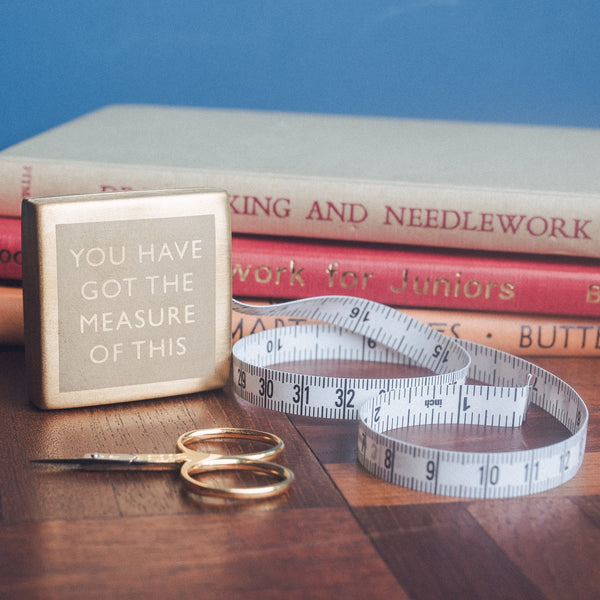 Vinegar & Brown Paper - Etched Tape Measure