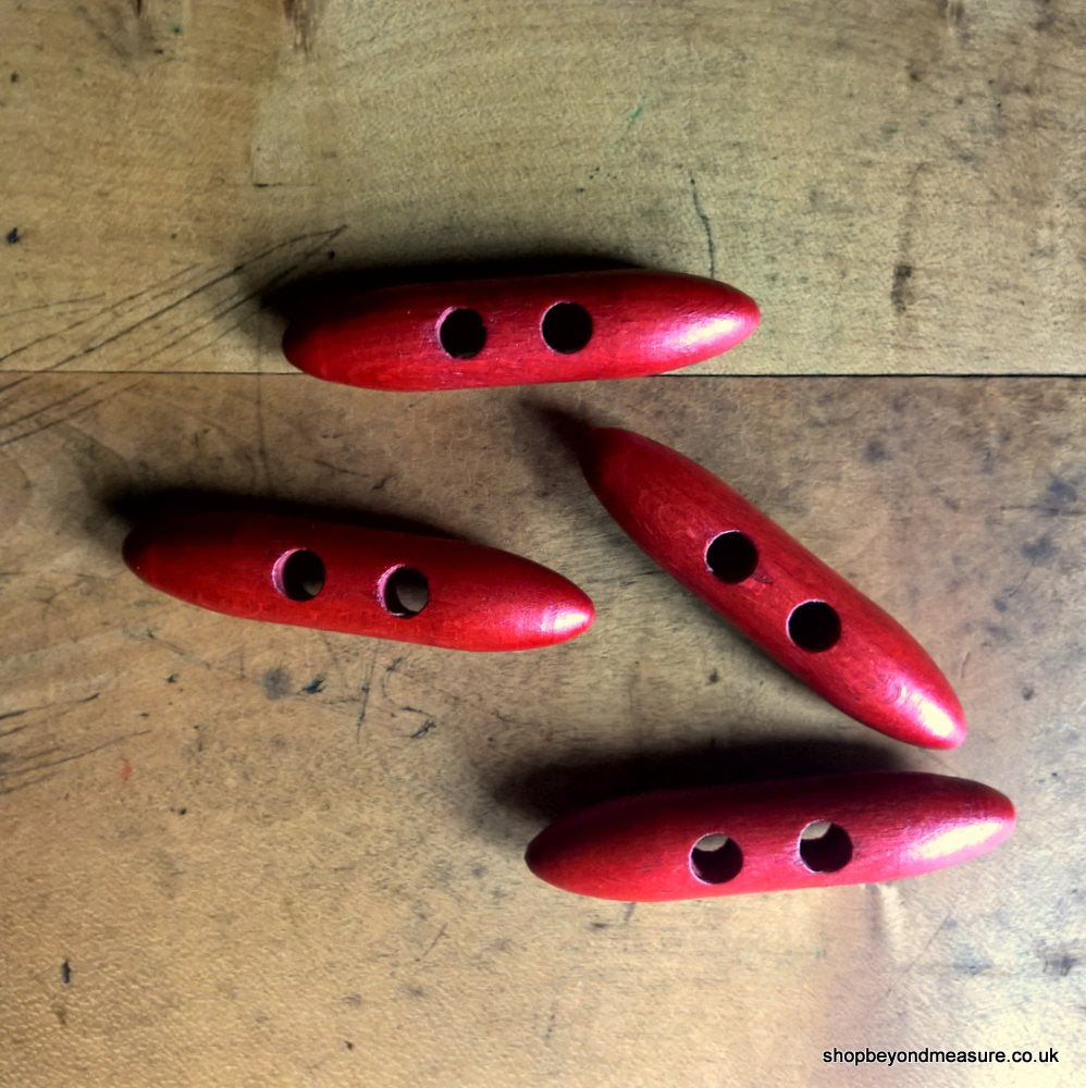 Wooden Toggle - Red