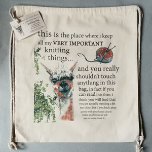Temporary Measure Large Knitting Bag