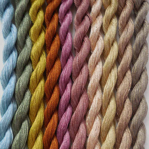 Paint Box Threads - 10 Pack of Hand Dyed Cotton Threads