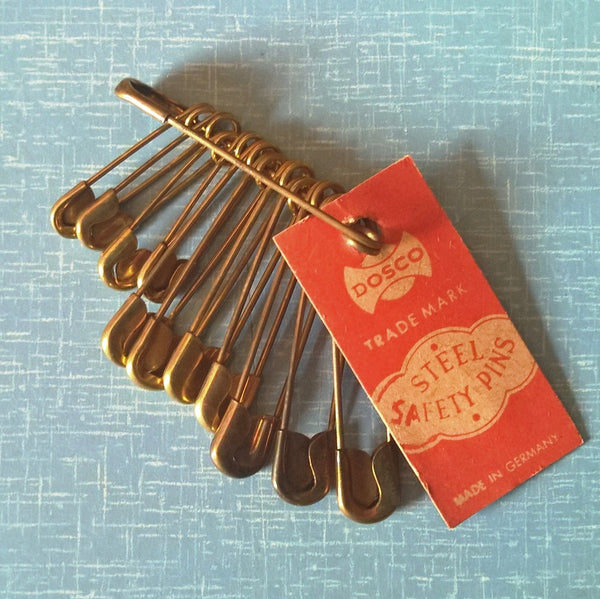 Vintage Safety Pins - pack of 36