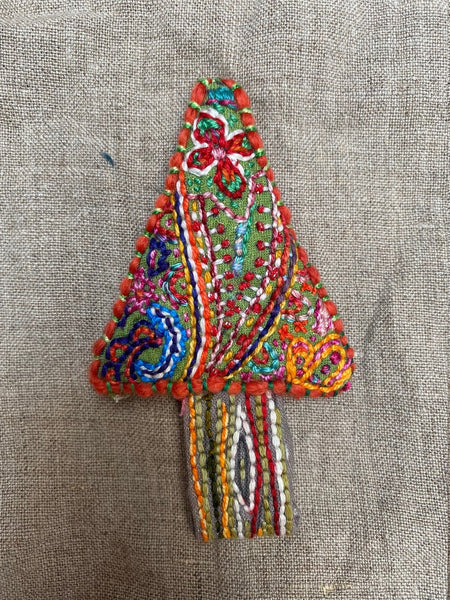 Dropcloth Sampler - Christmas Tree Ornament