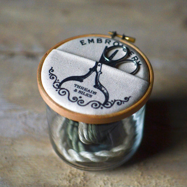 The Industrious Maker Embroidery Storage Jar