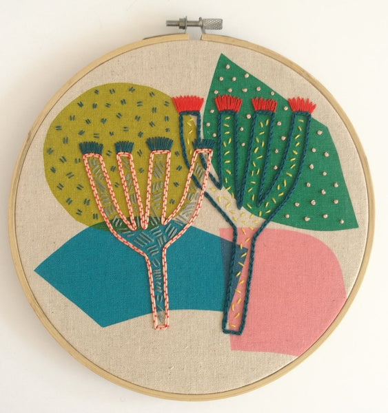 Miesje Chafer Embroidery Kit - large cactus