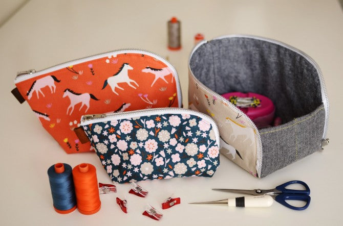 Aneela Hoey Open Out Box Pouch Printed Pattern